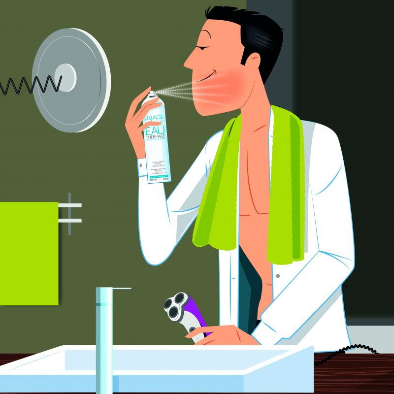 comment-utiliser-leau-thermale-d-uriage-HOMME-RASOIR