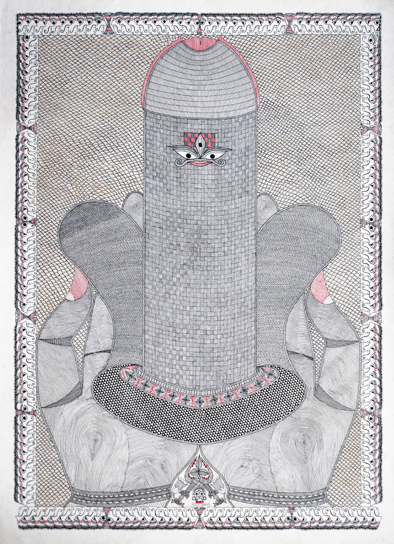 pushpa-kumari-2004-encre-su