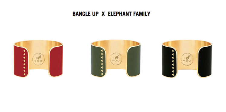 manchette-bollystud-bijou-grand-coeur-bangle-up-elephant-family-rouge-vert-noir