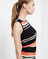 Ted Baker JEENIE Tribal Stripe crop top