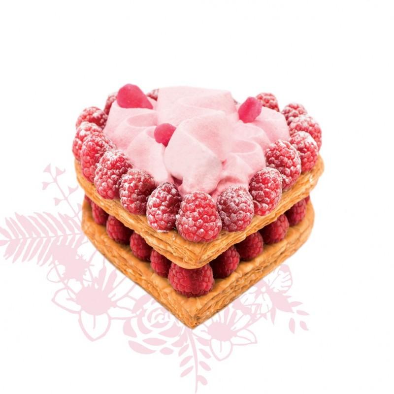 lenotre saint valentin mille-feuille aux framboises