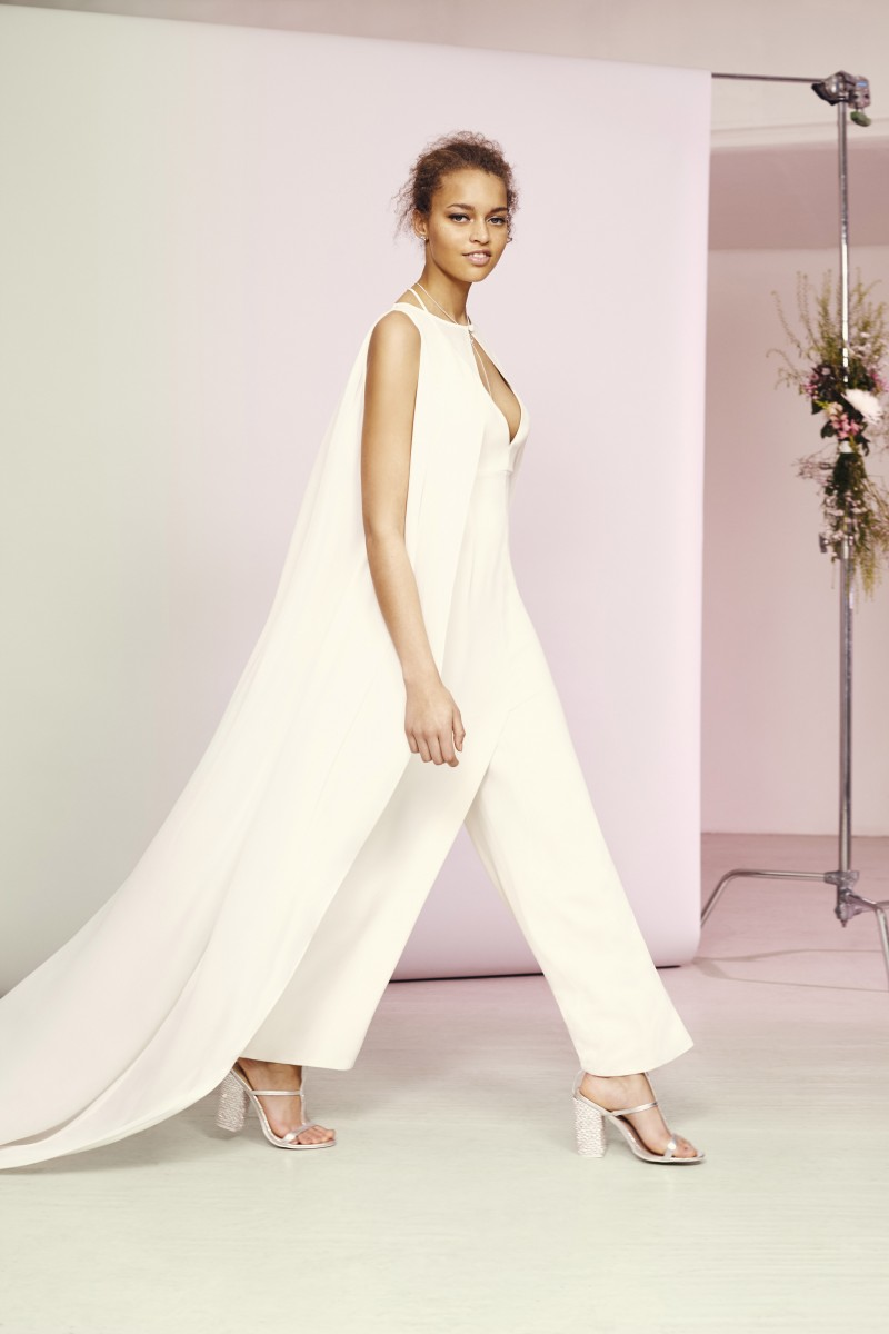 ASOS Bridal Jumpsuit with Cape Overlay £150 Live 14.03