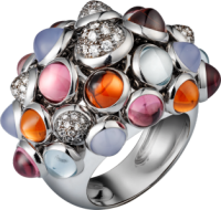 Cartier_bague_paris_nouvelle_vague_or gris_diamants_calcédoines_grenats_tourmalines roses_aigue-marines