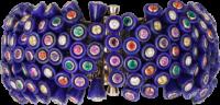 Cartier_bracelet_nouvelle_vague_or jaune_lapis lazulis_spinelles_saphirs roses et jaunes_grenats_améthystes_émeraudes_opales de feu_diamants