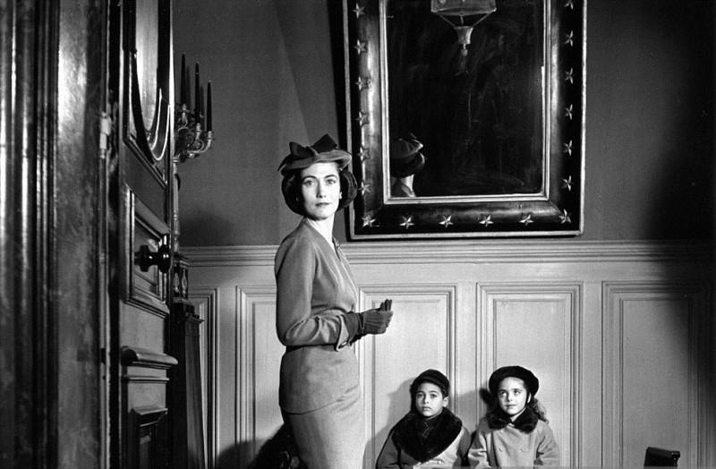 Hélène Rochas et ses enfants