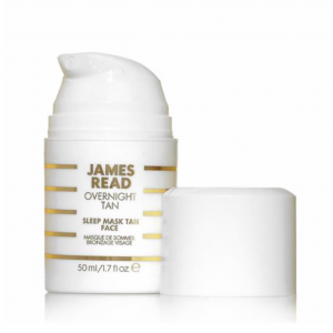 James read_Overnight tan_masque de sommeil bronzage visage