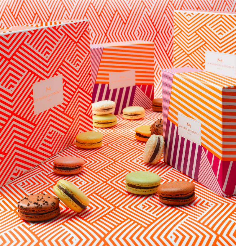 maison-du-chocolat-macarons-coffret-bayadere-coffret-orange-magnetique