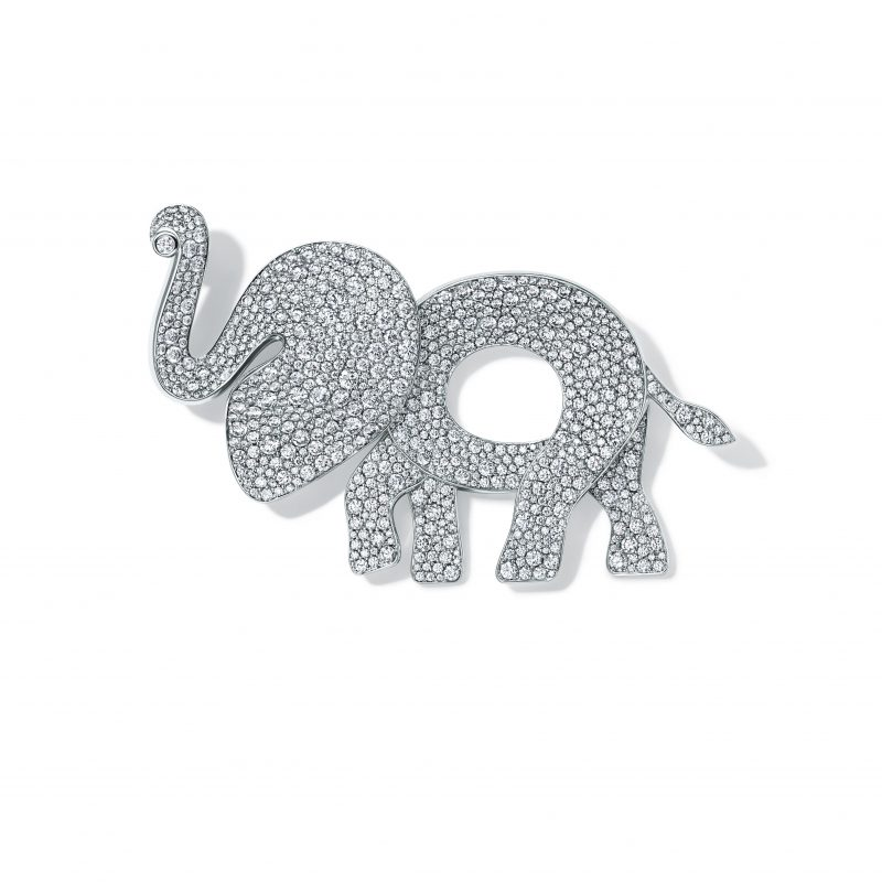 born-to-be-wild-avec-tiffany-co-broche-Elephant-or-diamants