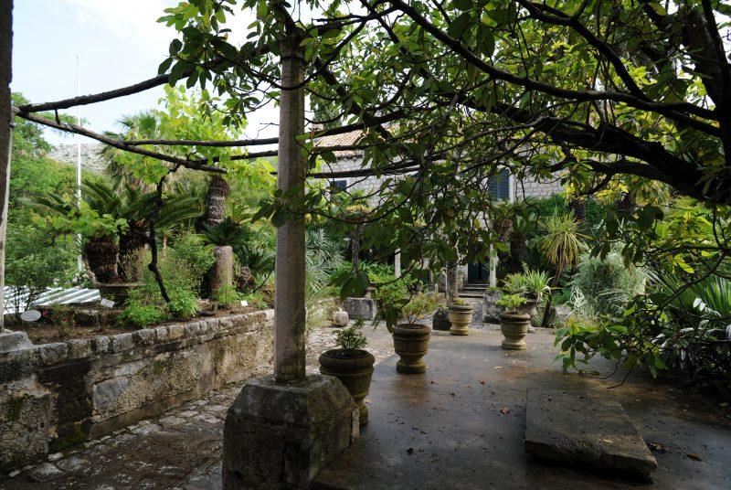 Pavillon du jardin botanique de Trsteno