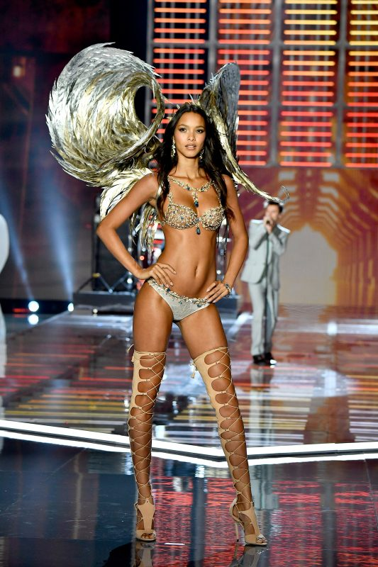 SHANGHAI, CHINA - NOVEMBER 20: Victoria's Secret Angel Lais Ribeiro walks the runway during the 2017 Victoria's Secret Fashion Show In Shanghai at Mercedes-Benz Arena on November 20, 2017 in Shanghai, China. (Photo by Frazer Harrison/Getty Images for Victoria's Secret)