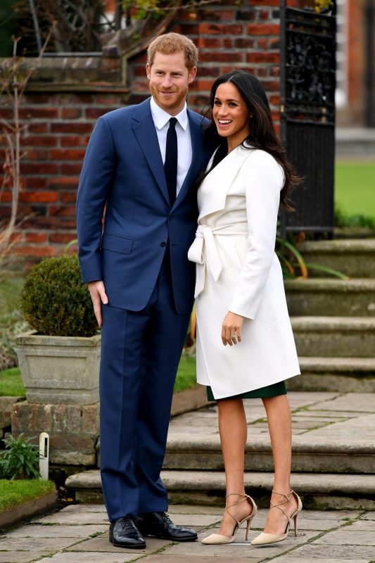 Prince Harry and Meghan Markle at a photocall to announce their engagement at Kensington Palace, London. Photo credit should read: Doug Peters/EMPICS Entertainment ... Prince Harry engagement ... 27-11-2017 ... London ... UK ... Photo credit should read: Doug Peters/Doug Peters. Unique Reference No. 33907427 ... | BRPAPhotos20171127_499 London