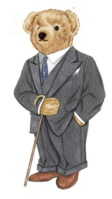 il-etait-une-fois-polo-bear -Pin-stripe-Bear